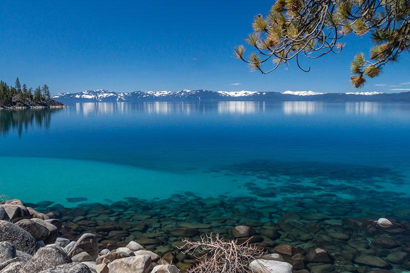 Tahoe Lake in California