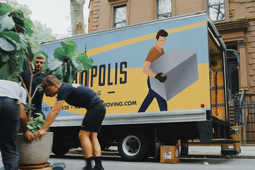 Movers Loading The Truck