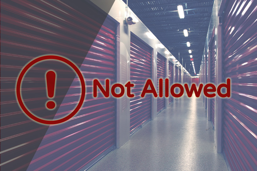 A Graphics Depicting That There Are Items That Are Not Allowed To Be Stored In A Storage Unit