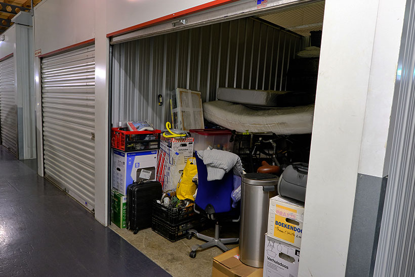 Various Items In A Self Storage Unit