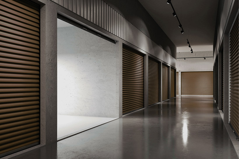 An Interior Of A Self Storage Facility