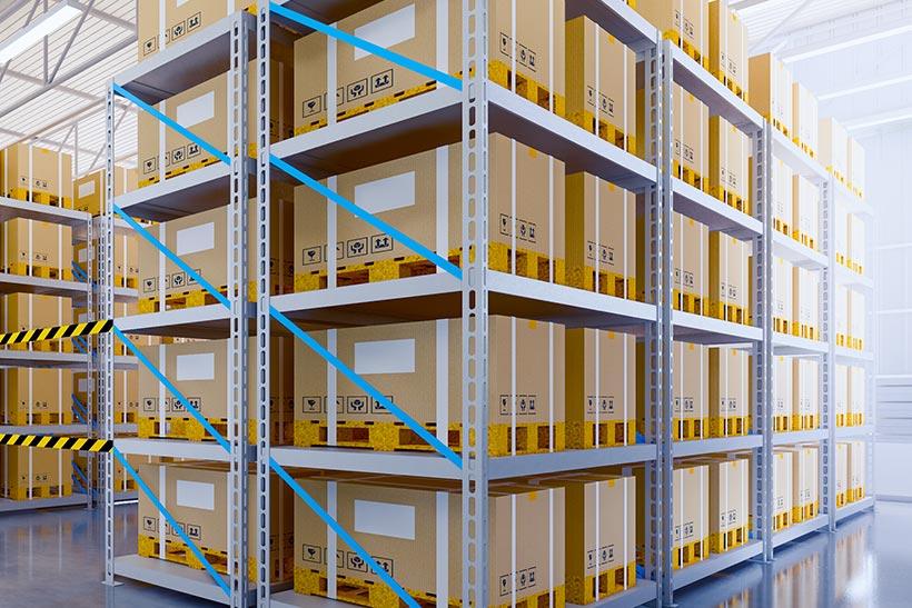A Vertical Stack In A Storage Unit