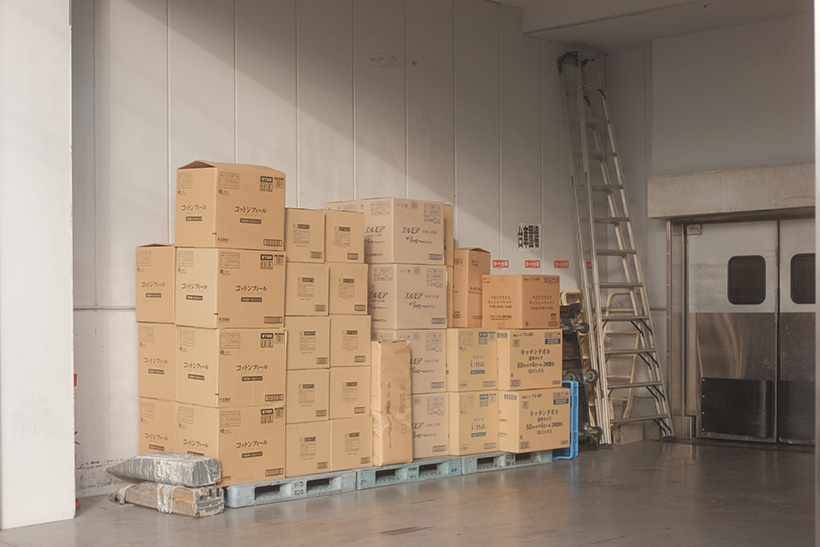 Boxes Set In A Warehouse